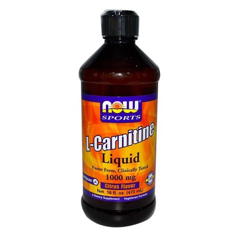 NOW - L-CARNITINE LIQUID CITRUS - 3000 МГ (465 МЛ)