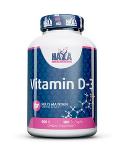 HAYA LABS Vitamin D-3 / 400 IU / 100 Softgels