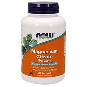 NOW - MAGNESIUM CITRATE 134 МГ - 90 ДРАЖЕТА