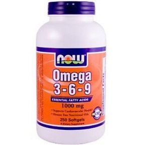 NOW - OMEGA 3-6-9 1000 МГ - 250 ДРАЖЕТА